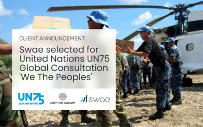 Swae Partners with the Igarapé Institute and the United Nations Launching a Global Digital Consultation to Strengthen International Cooperation