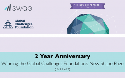 Swae Celebrates the 2-Year Anniversary of Winning the Global Challenges Foundation's New Shape Prize