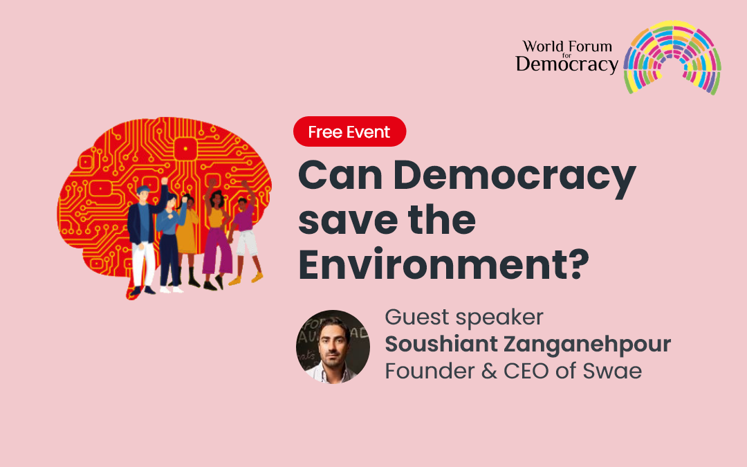 Swae CEO Invited to the Council of Europe's World Forum Talk: Can Democracy Save the Environment?